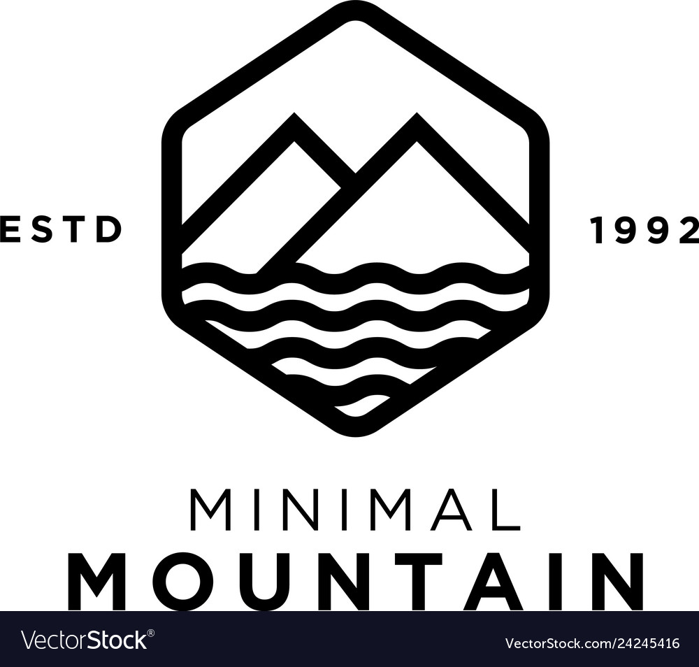 Minimal mountain logo design inspiration