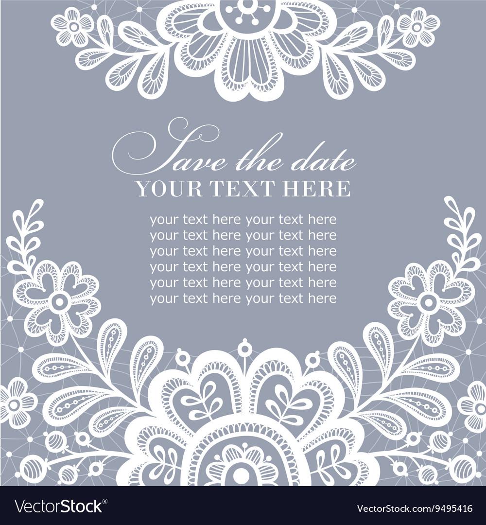 White lace design