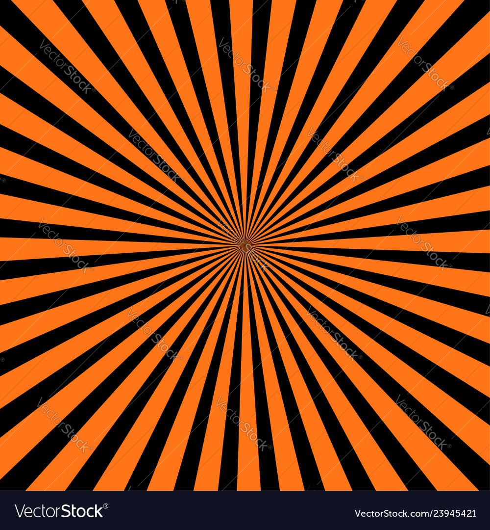 Abstract orange and black radial background