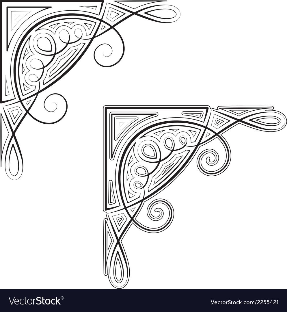 Decorative corner vector art - Download vectors - 2255421