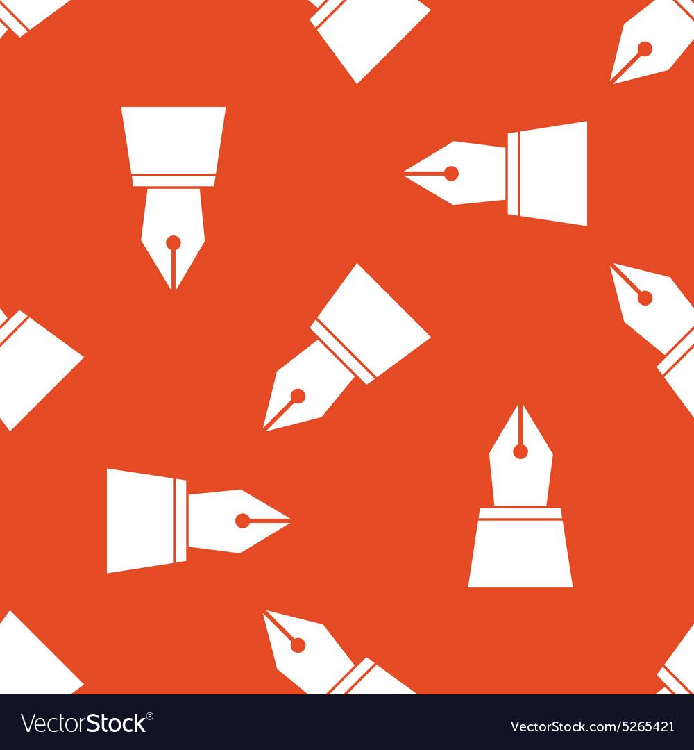 Orange ink pen nib pattern