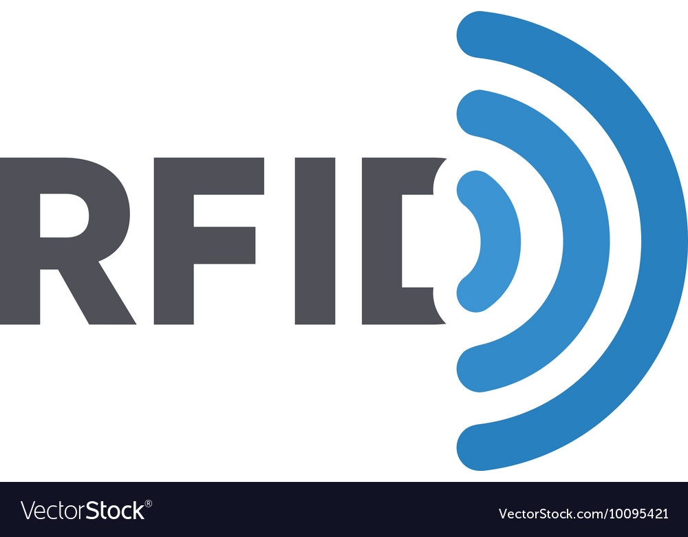 RFID tag logo Radio-frequency ...