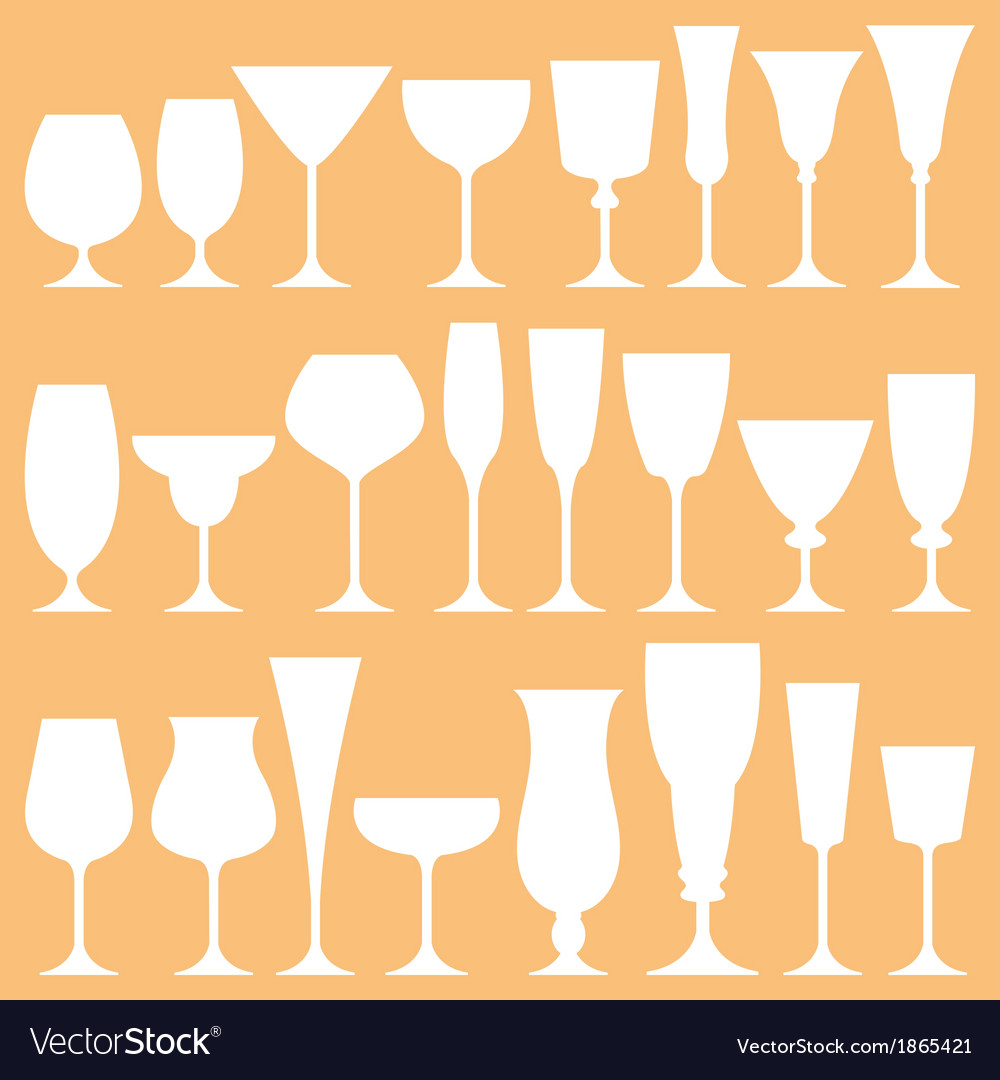 Set of wine glass icon