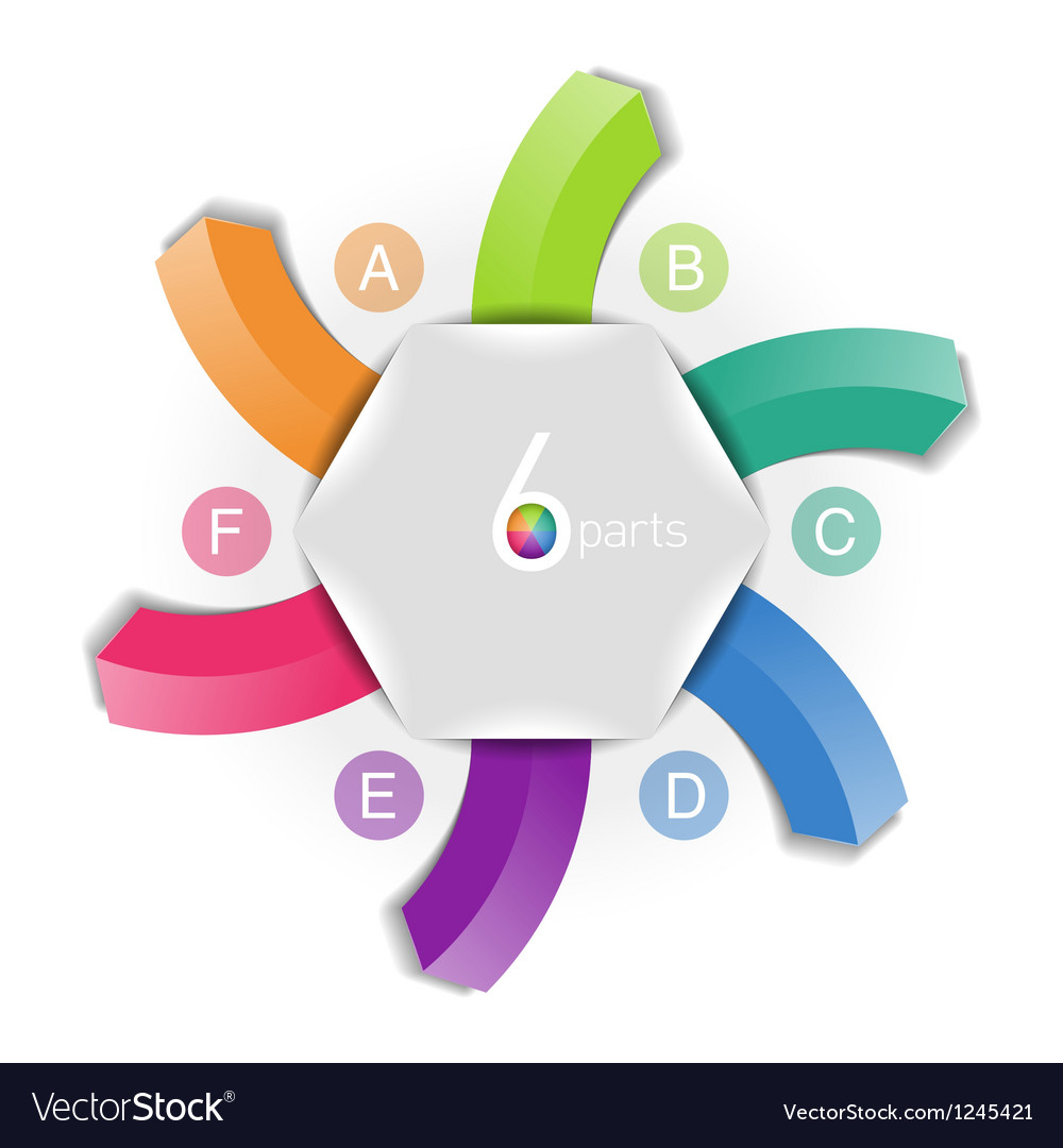 Six directions arrows vector image