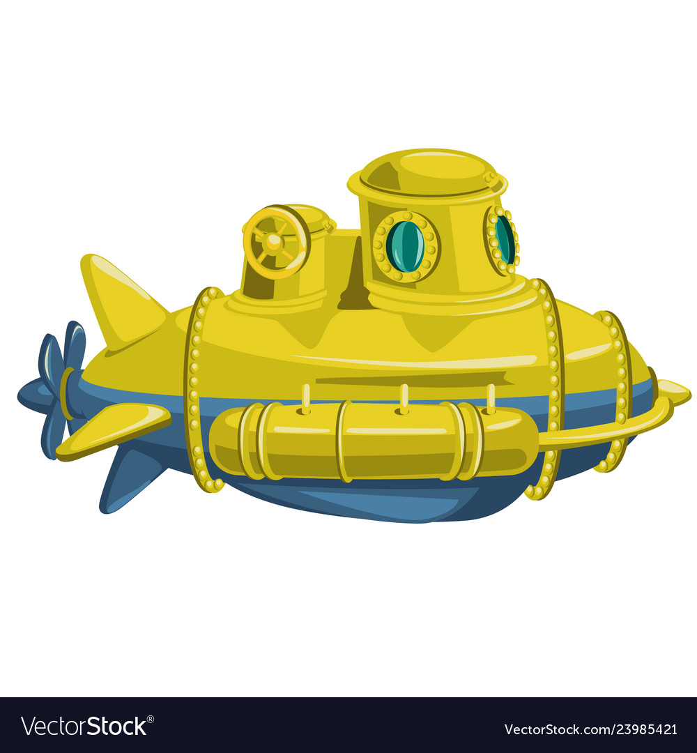 Yellow submarine isolated on white background