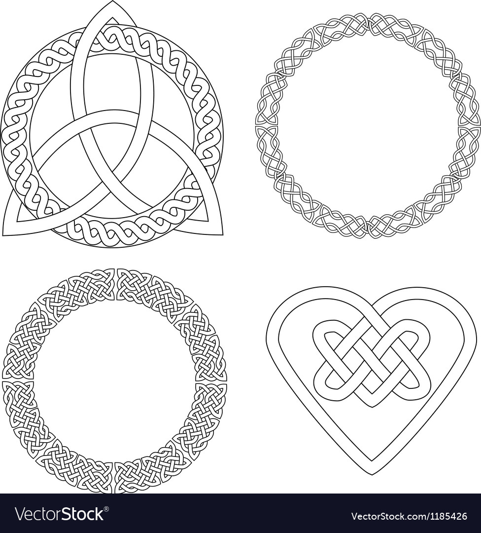 4 Celtic patterns