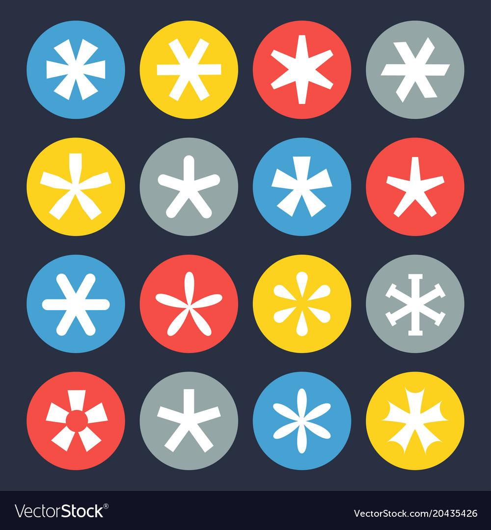 Asterisk symbol set