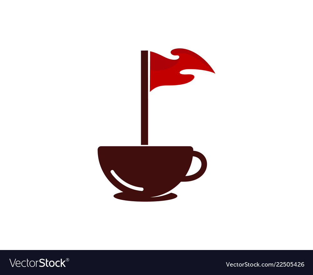 Coffee golf logo icon design