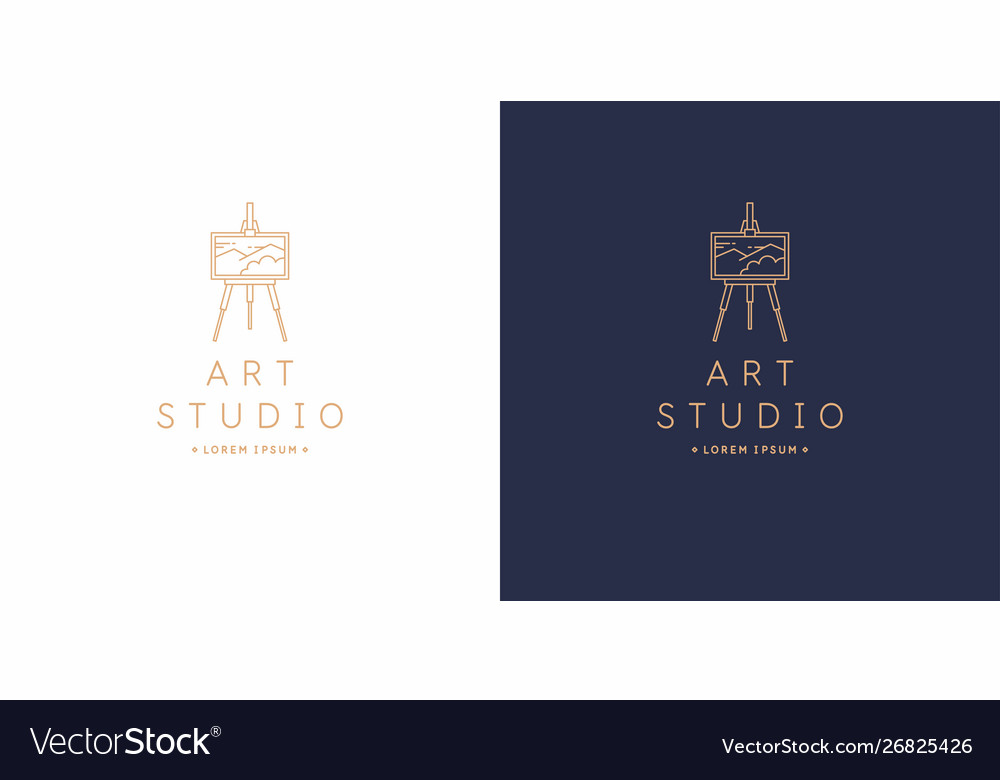 Original linear image art studio