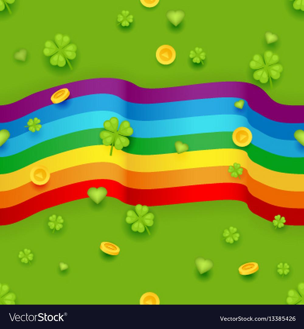 Seamless pattern saint patrick day gold coins