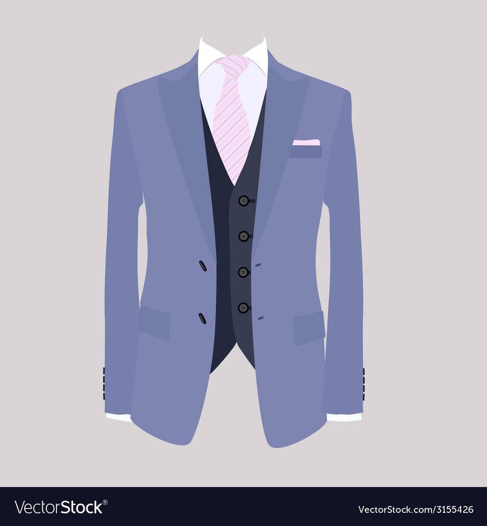 Suit pink necktie