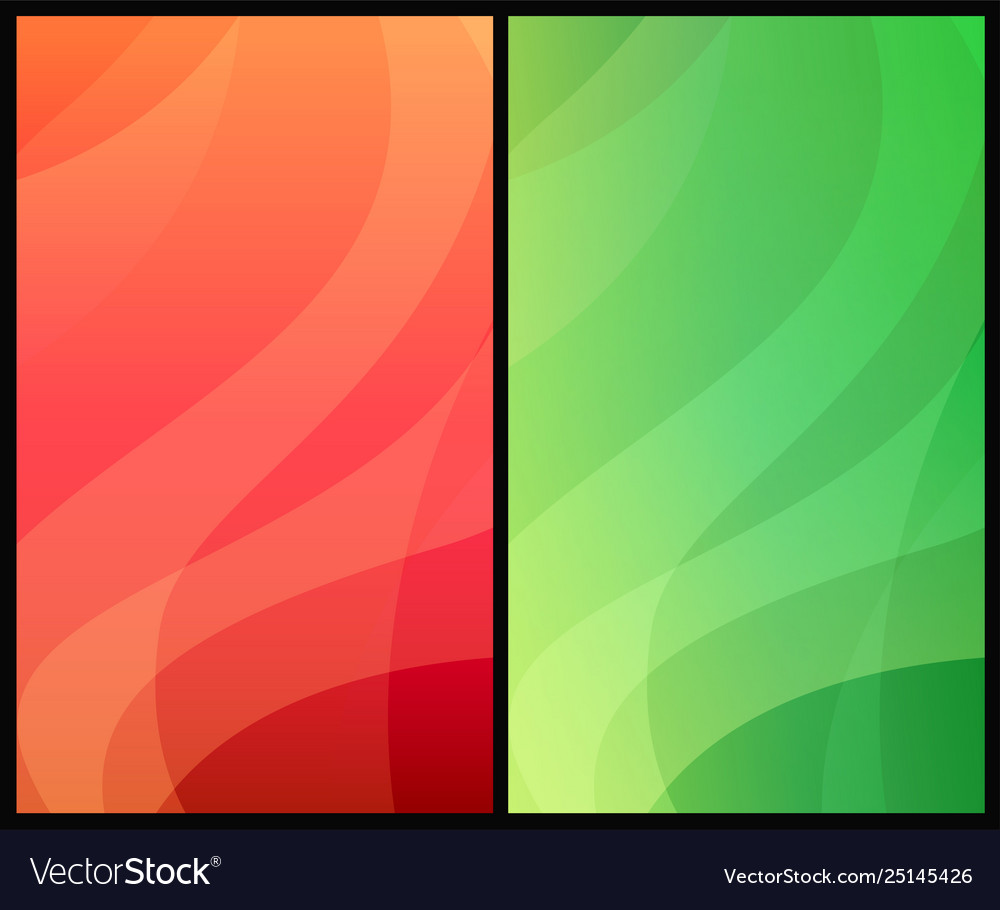 Two vertical abstract backgrounds with colorful