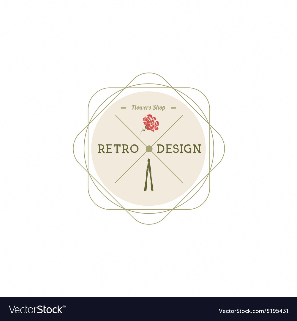 Carnation flowers logotype label badge royalty free vector carnation flowers logotype label badge vector image ccuart Gallery