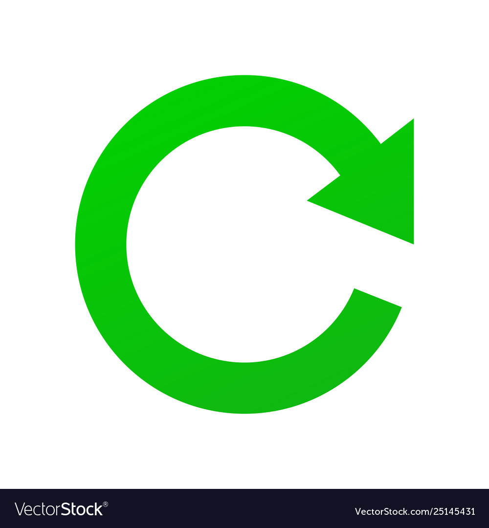 Green sign refresh update and renew isolated