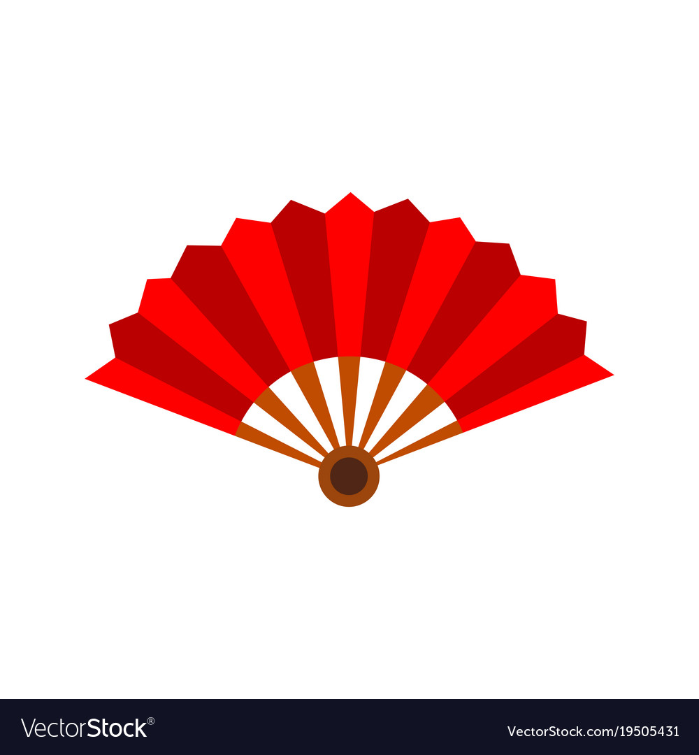 Paper hand fan graphic
