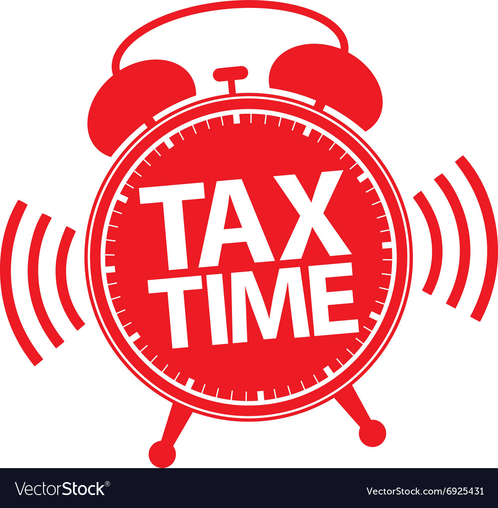 Tax time alarm clock red icon