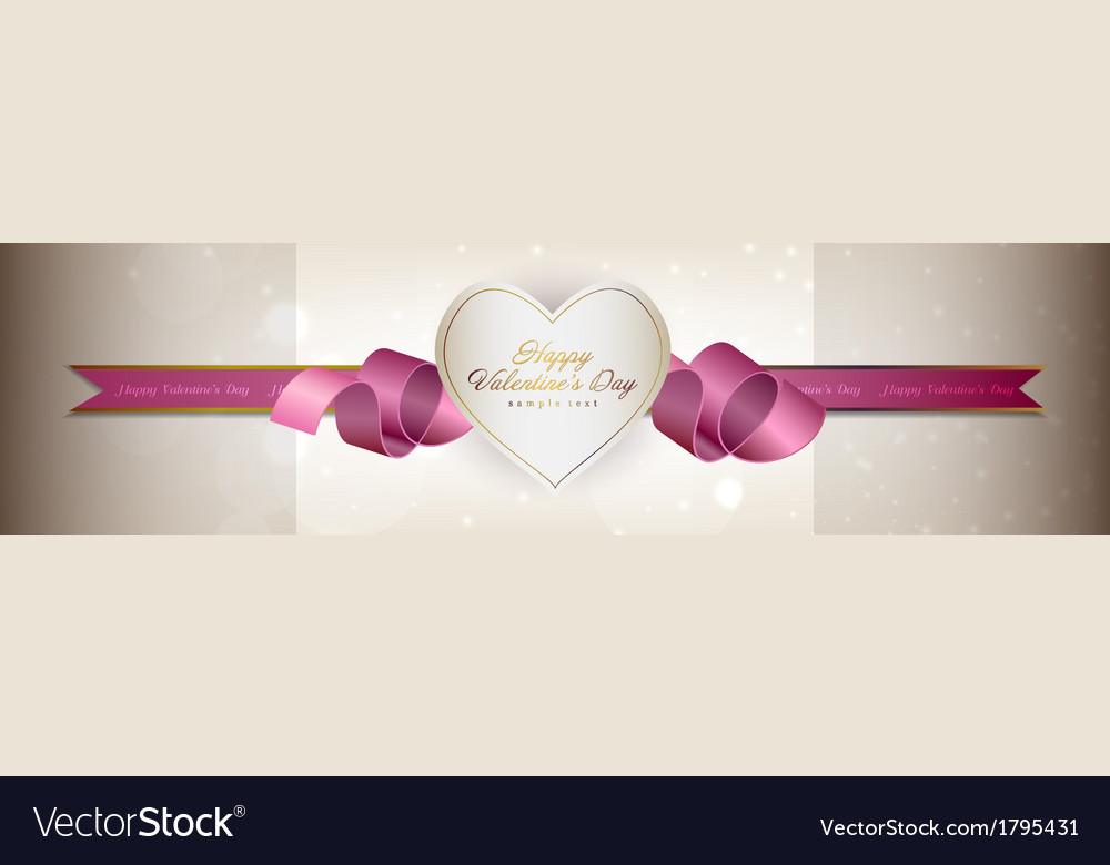 Valentine Banner Label vector image
