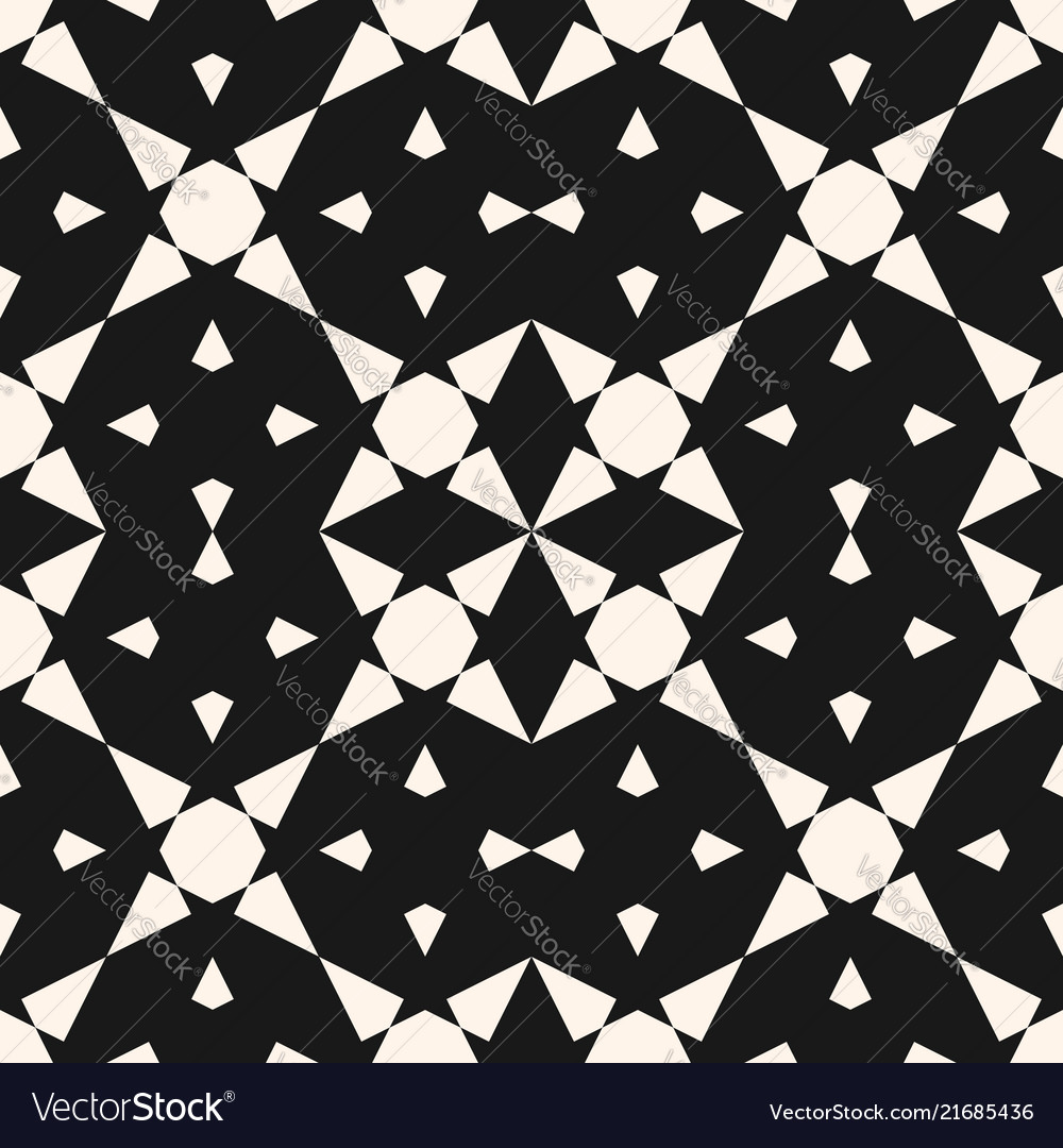 Abstract geometric seamless pattern with stars