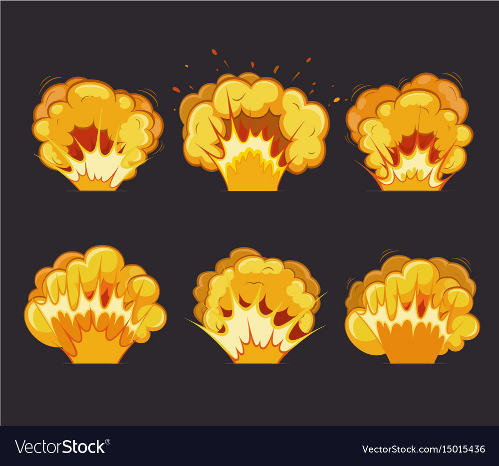Cartoon explosion effects with flash