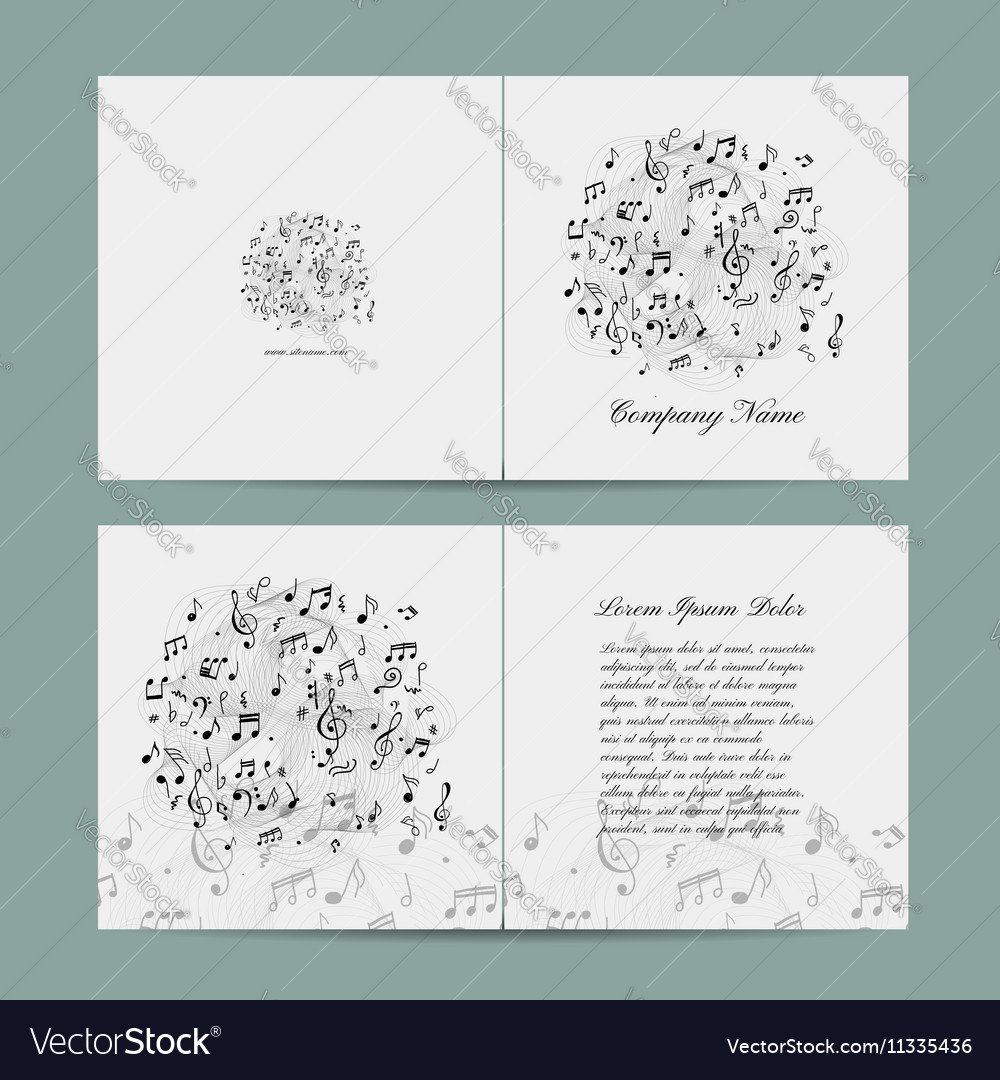 Greeting Card Design Music Template Royalty Free Vector