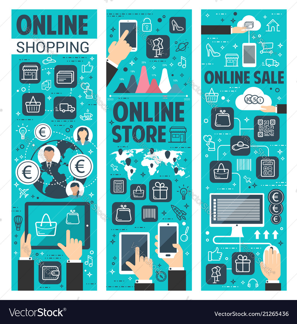 Online shopping banners for internet retail