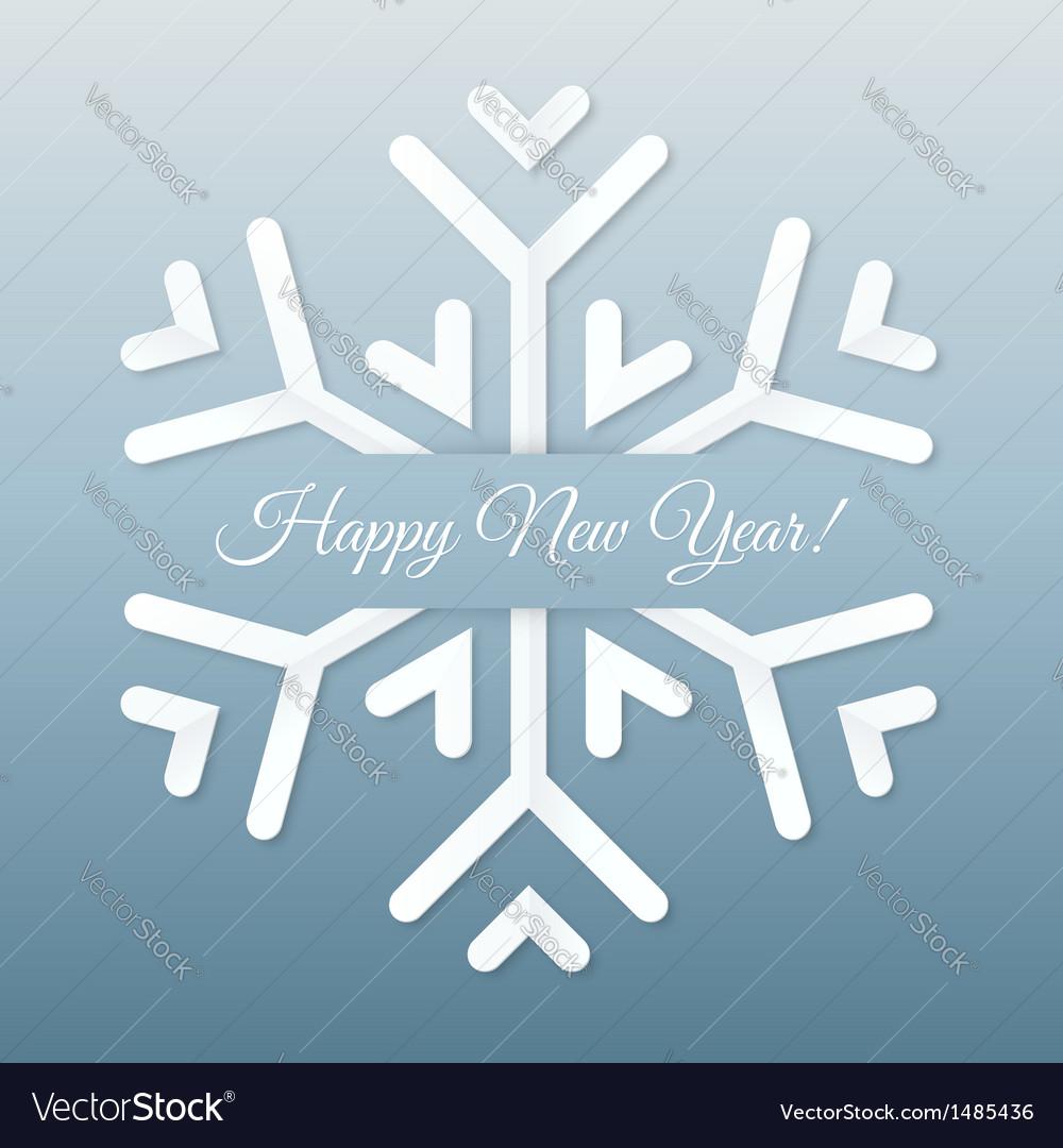 Paper Snowflake Postcard