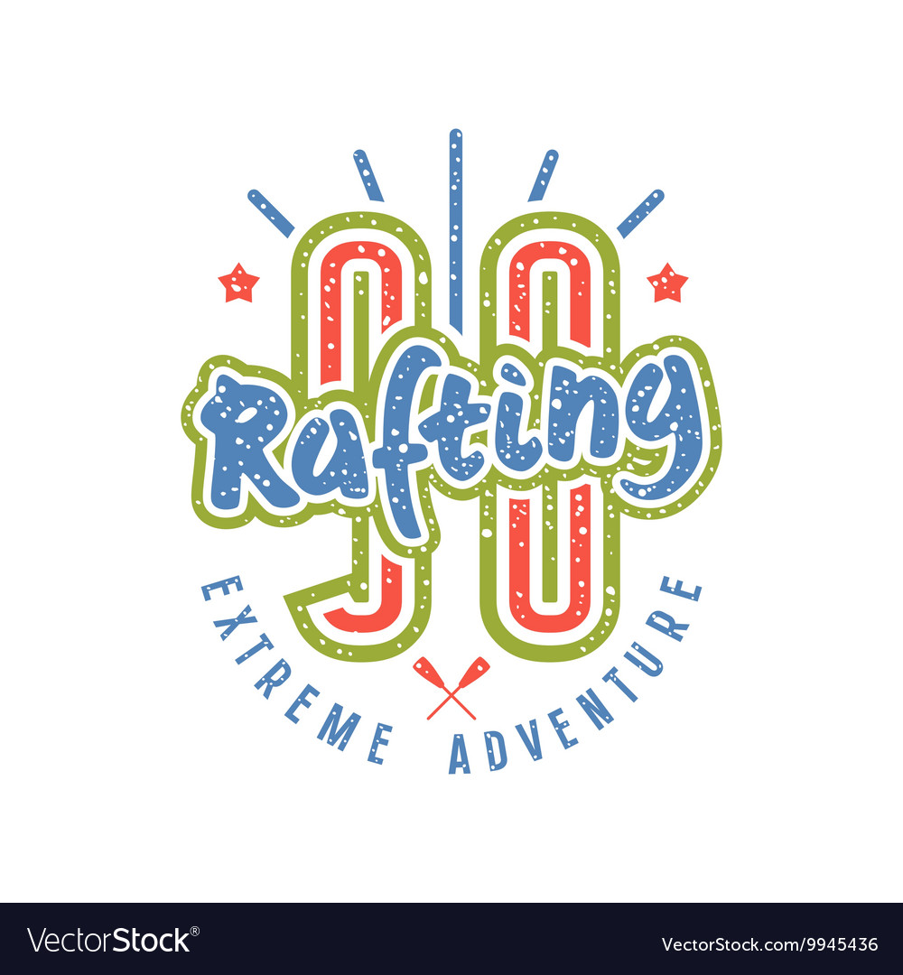 Rafting club emblem in retro style number