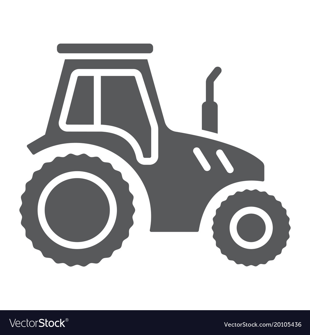 Tractor glyph icon farming and agriculture