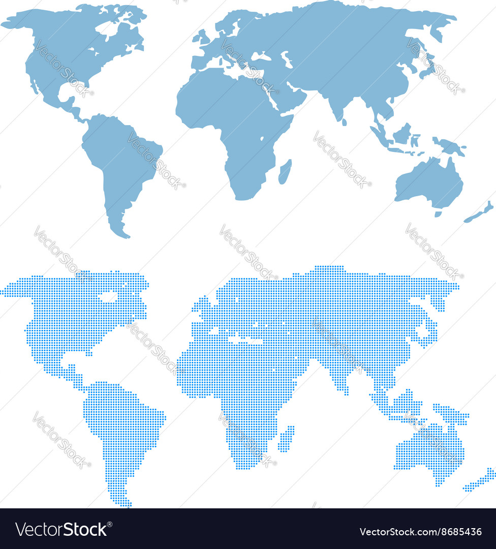World map template in