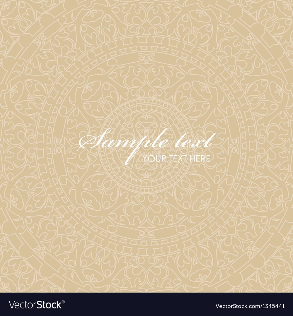 Beige background with ornaments