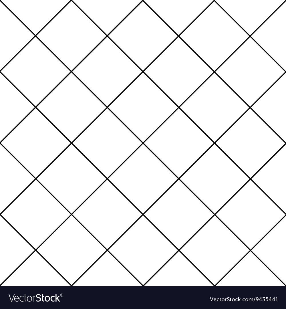 Black Grid White Diamond Background Royalty Free Vector