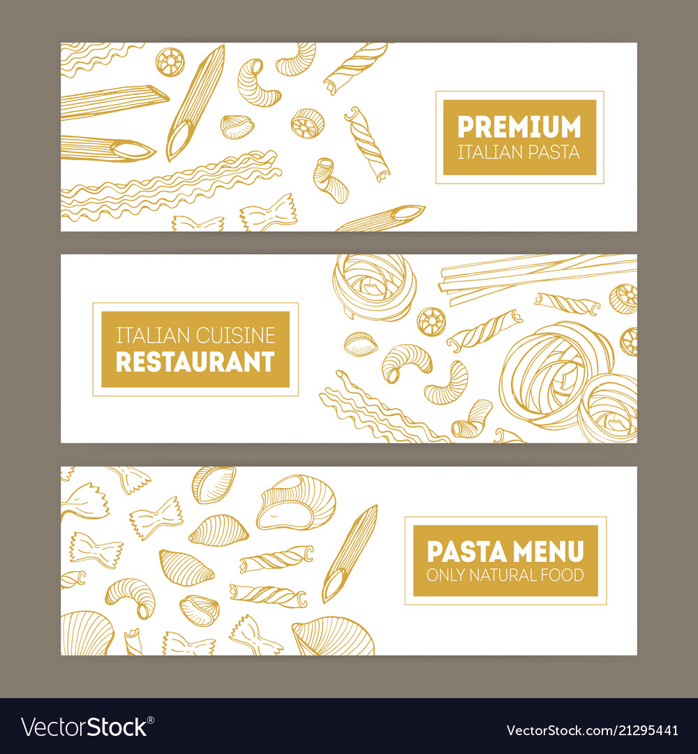 Bundle of horizontal web banners with various