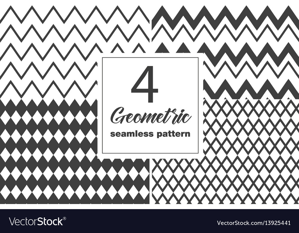 Collection of seamless geometric pattern