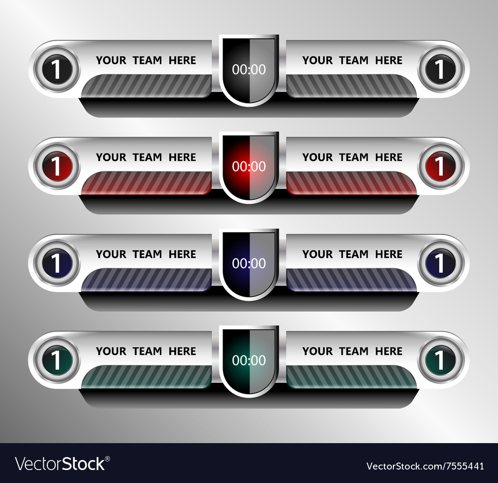 Football and soccer scoreboard template vector image