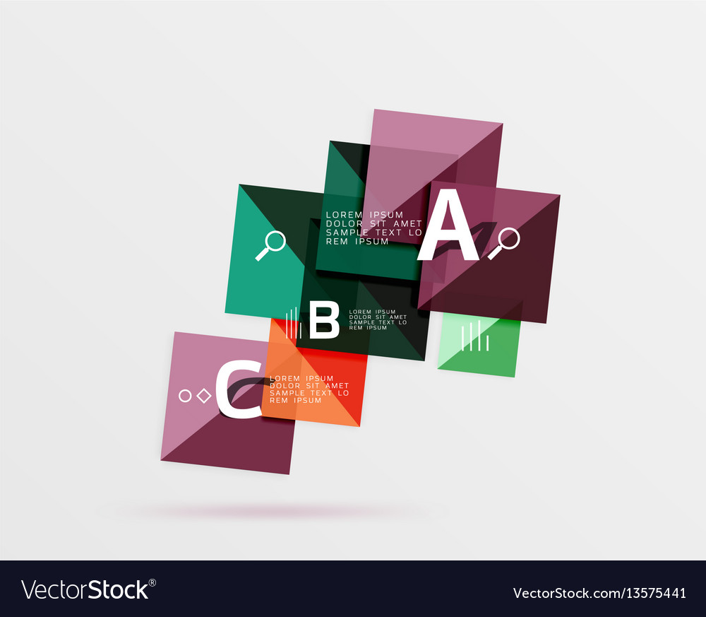 Geometric square and triangle template