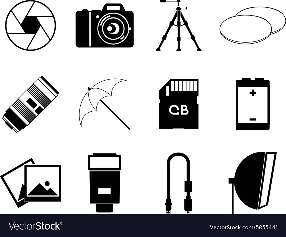 Photo icons accessories set