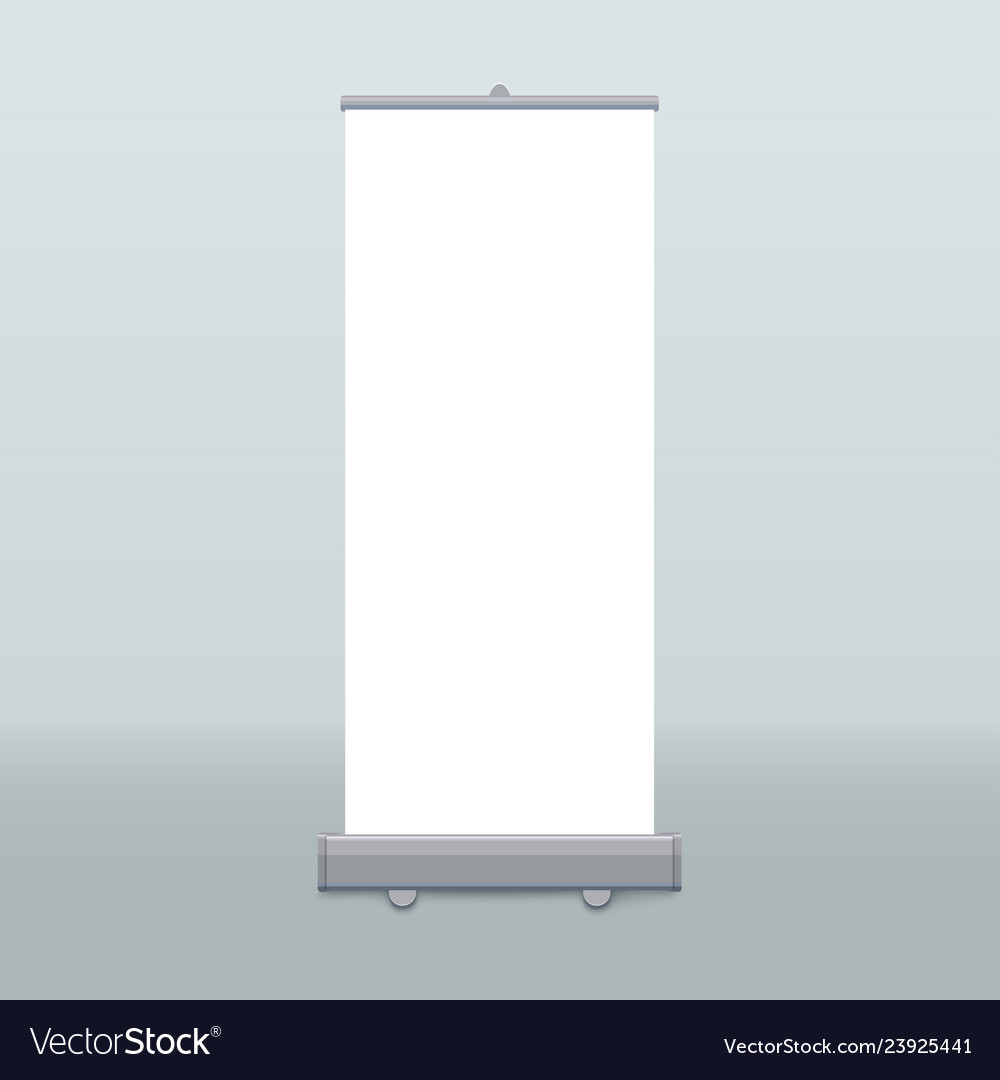 Roll up banner isolated empty display