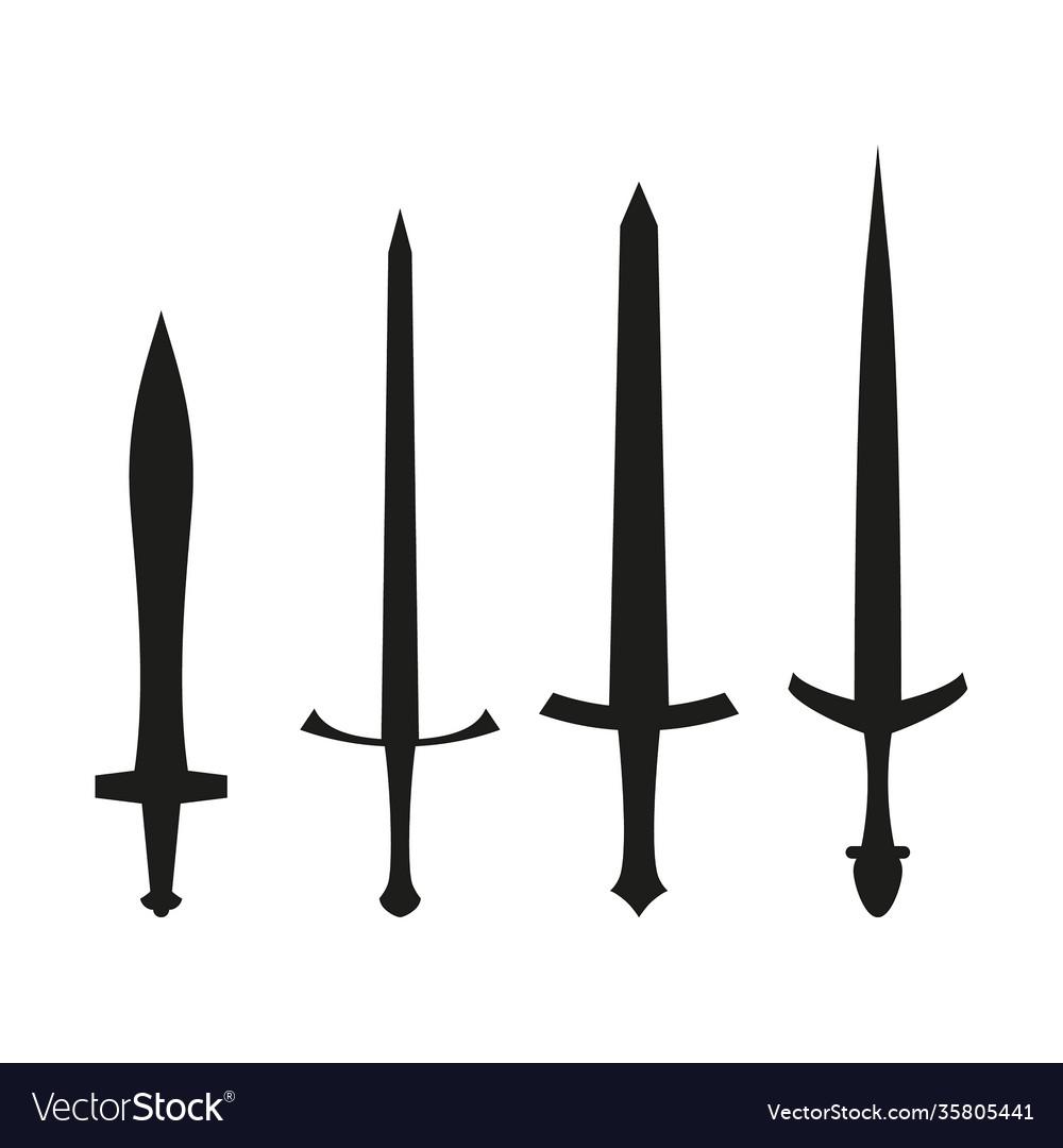 Set medieval swords