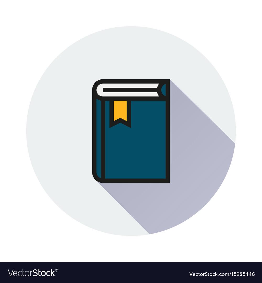 Book icon on round background