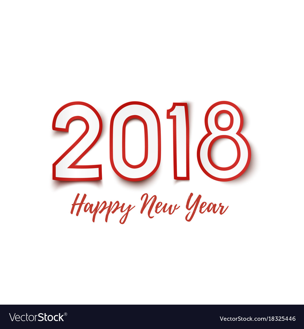 Happy new year 2018 background royalty free vector image happy new year 2018 background vector image voltagebd Images