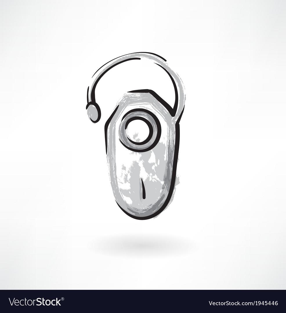 Headset bluetooth grunge icon
