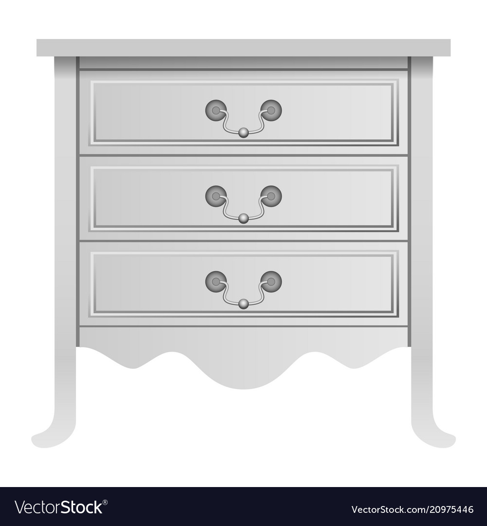 Modern white drawer mockup realistic style