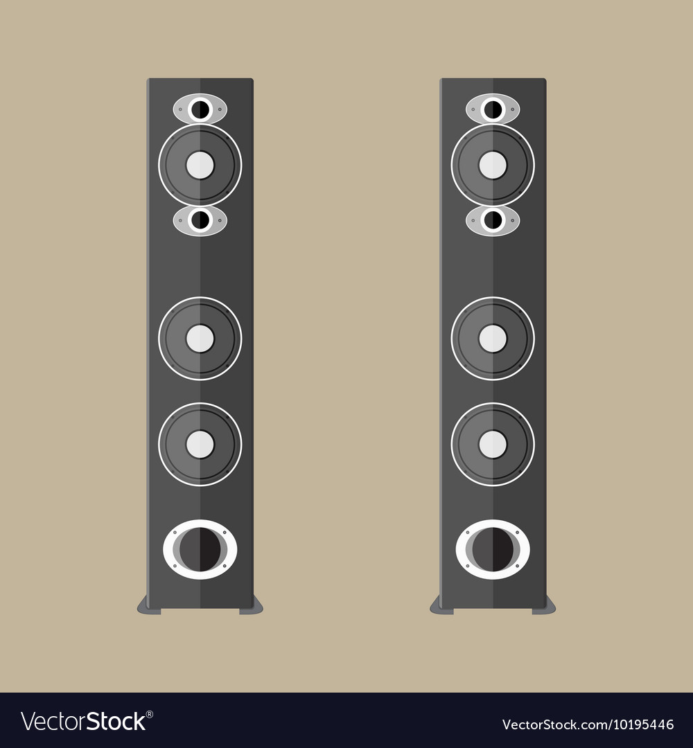 Stereo speakers in black vector image