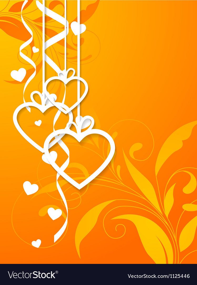 Valentines shape orange