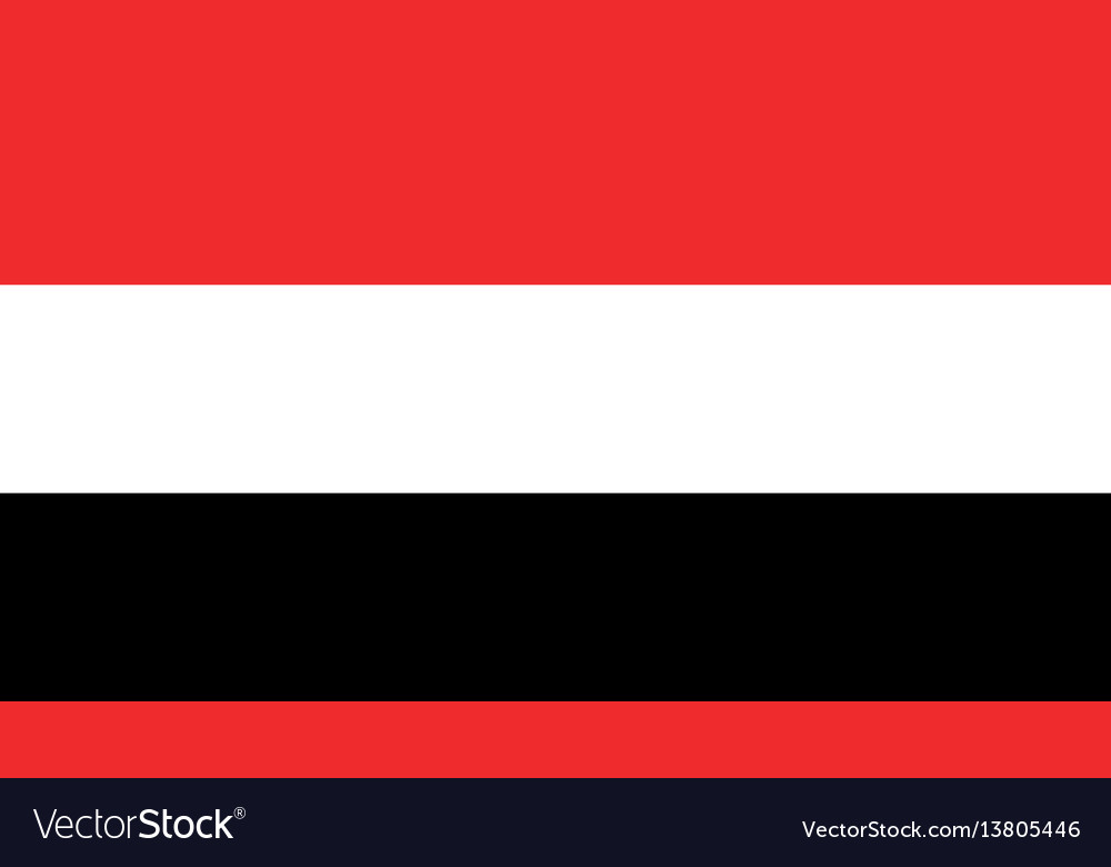 Yemen flag for independence day and infographic vector image