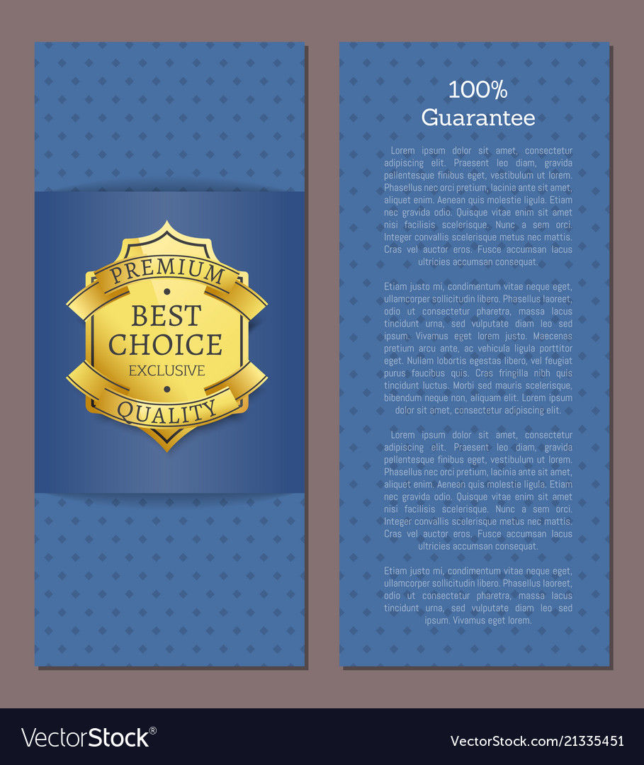 100 guarantee best choice for year exclusive label