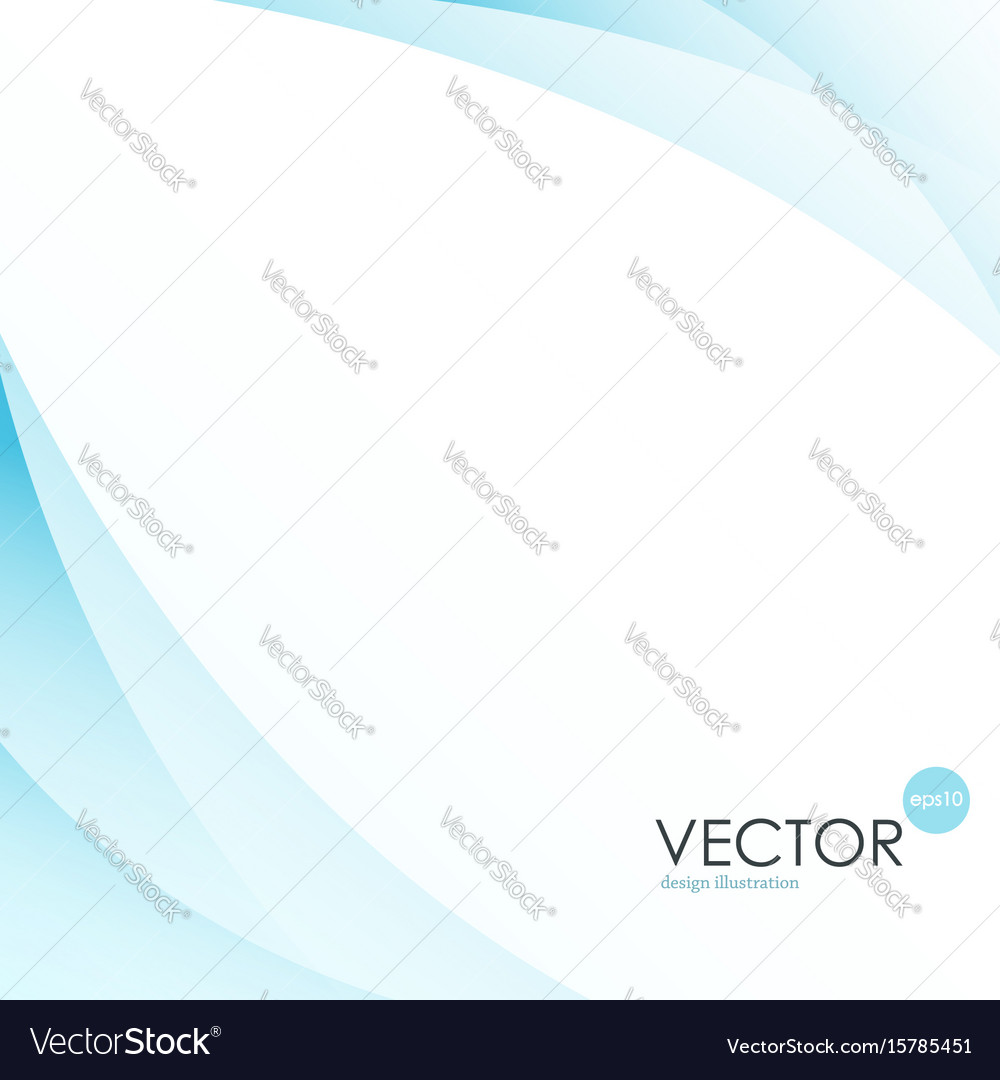 Abstract background blue wavy lines for brochure vector image