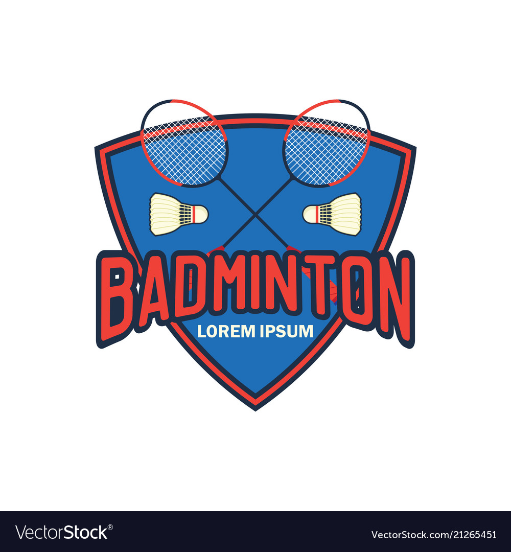 Badminton logo with text space for your slogan