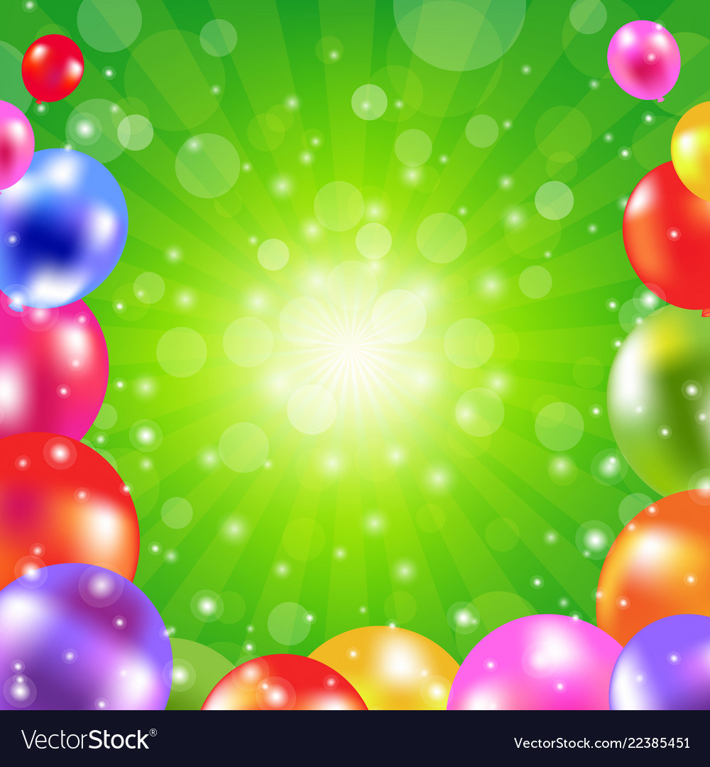 Birthday green sunburst poster