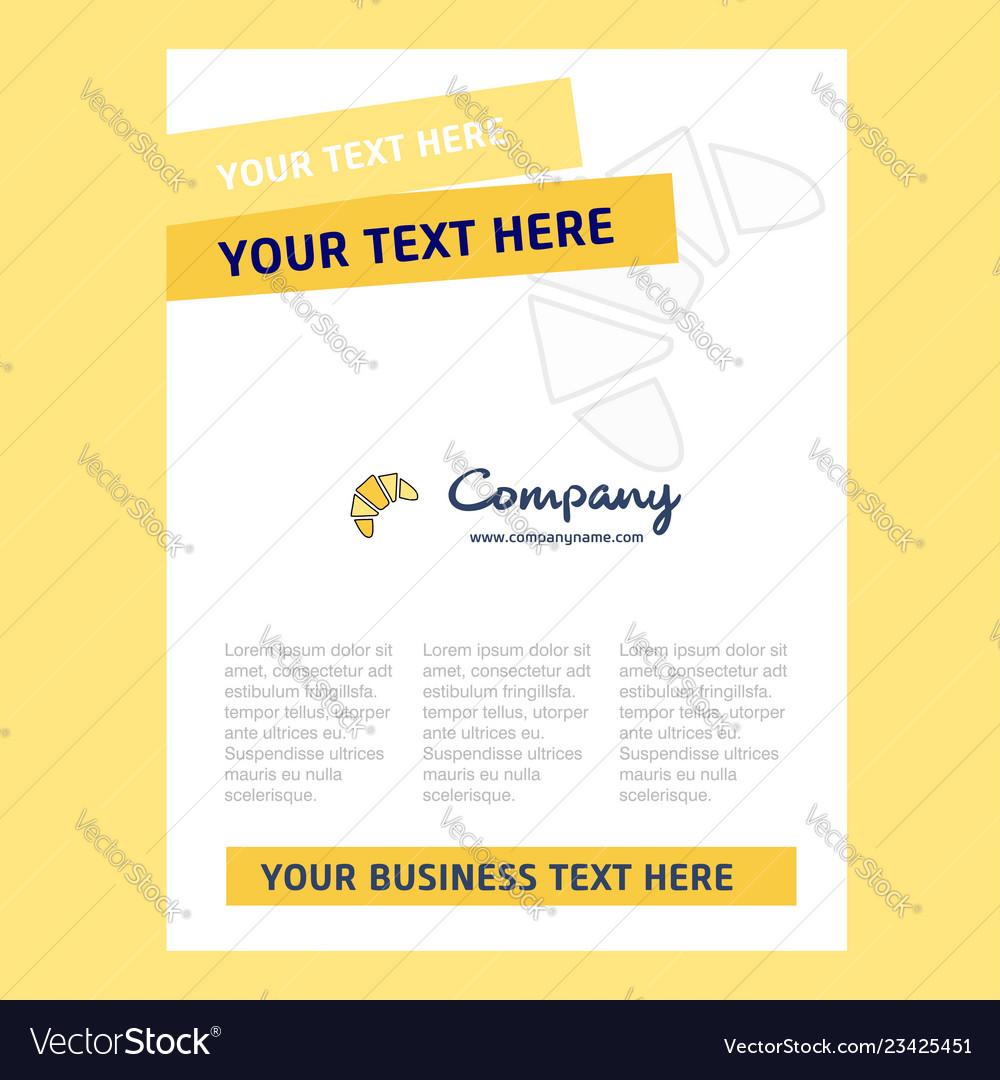 Bun title page design for company profile annual